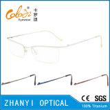 Telaio dell'ottica di Eyewear di vetro di titanio Semi-Senza orlo semplici del monocolo (8502)