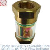Indicador de flujo de cobre de cristal transparente del cilindro de Líquidos