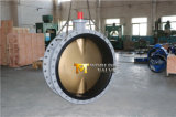 De grote Van een flens voorzien Vleugelklep van de Diameter Dubbel met Schijf C95800 (CBF02-TF01)