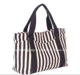 20176 تصميم جديدة سوداء وأبيض شريط بيع بالجملة طفلة حفّاظة حقيبة مع عمل متعدّد