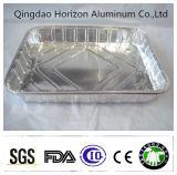 Лотки торта алюминиевой фольги устранимые квадратные серебряные
