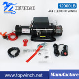SUV 12V/24V gelijkstroom Electric Winch Synthetic Rope Winch (12000lb-3)