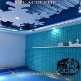 Panneau favorable à l'environnement de décoration de panneau de plafond de panneau de mur d'écran antibruit de mousse acoustique d'absorption saine