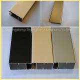 Profil en aluminium de Deglossed d'électrophorèse pour la décoration à extrémité élevé de guichet et de porte