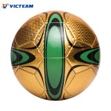 Brillante acabado fuerte láser de algodón pelota de fútbol tamaño 5