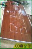 Pele da porta do molde de HDF com espessura de papel 3mm da melamina 4mm
