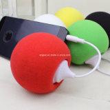 スポンジの丸いボールの携帯用小型移動式スピーカー
