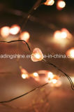 Luz da corda do diodo emissor de luz de Dimmable com luzes estrelados do fio de cobre de 39FT para a decoração interna e ao ar livre