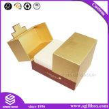 Роскошная квадратная коробка ожерелья кольца ювелирных изделий магнита золота