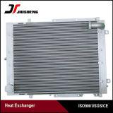 Refrigerador de petróleo de aluminio del excavador de la placa de la barra