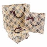 縞のペーパーハンドバッグ手のキャリアのパッキング包装袋袋