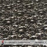 Черная серебряная оптовая продажа ткани шнурка Lurex (M5030-Y)