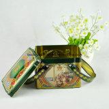 주문 직사각형 선물 손잡이를 가진 포장 주석 상자