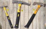 La qualité 600g a modifié le marteau de brique d'acier du carbone avec l'arbre de fibre de verre