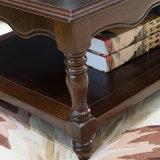 La plus défunte table basse ronde en bois solide de modèle simple pour l'usage de maison de salle de séjour avec la bonne qualité As840A