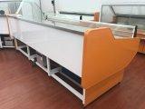 Refrigerador de tragante abierto de la visualización del sushi de la refrigeración por aire con la cortina de la noche