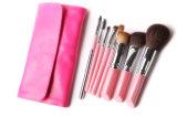 Розовая щетка комплекта щетки состава оптовой продажи 8PCS способа щетки косметическая с мешком