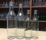 bouteille en verre de rhum de 175ml /350ml/bouteille en verre de flacon
