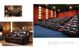 USB 책임 형식 디자인 영화 의자 가죽을%s 가진 현대 영화관 의자