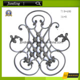 El panel ornamental de la flor del hierro labrado para la decoración del pasamano de la puerta del hierro y del hierro
