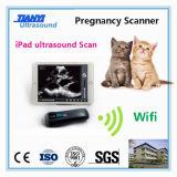 Punta de prueba sin hilos Handheld del ultrasonido para el examen del veterinario