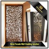 Porta de alumínio decorativa decorativa com corte a laser