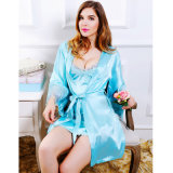 Het zilveren/Blauwe/Roze Sexy Ondergoed van het Satijn van de Kleur 2piece