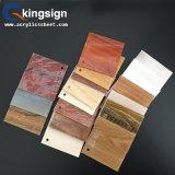 Hoja de acrílico del alto grano de madera brillante de la superficie dura para la decoración