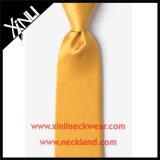 Ouro tecido jacquard do laço do homem da seda de 100%