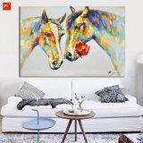 Handmade домашняя картина маслом лошади Lovestruck украшения