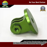 緑は電気CNCの回転製造所アルミニウムCNCの機械化の部品を陽極酸化した