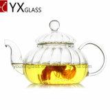 Бак чая боросиликатного стекла с стеклянным фильтром/зацветая Carafe 600ml чайника/воды тыквы комплекта чая кофеего бака чая