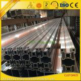 6061 6063粒の粉の上塗を施してある生産ラインTスロットアルミニウム放出