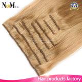 Выдвижения белокурых волос платины Hairpieces меда золотистые белокурые бразильские