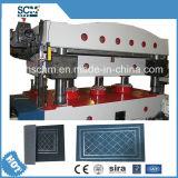 Prensa hidráulica de /Carpet de la estera de goma y cortadora
