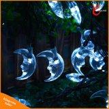 indicatori luminosi leggiadramente dell'albero di Natale dell'indicatore luminoso solare a forma di della stringa della luna 30LED