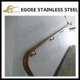 Suporte dos trilhos da escada do aço inoxidável do uso da construção
