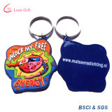 Fábrica Custom Wholesale Promotion Rubber PVC Keychain