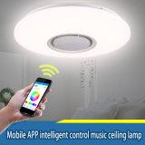 24W APP van de Spreker van Bluetooth van de Lamp van de Schaduw van het LEIDENE RGB Plafond van de Muziek Lichte Afstandsbediening