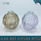 frasco de lingüeta de vidro do difusor do aroma vazio da esfera 375ml redonda