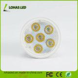 Bulbo frío del proyector del blanco LED de Dimmable GU10 6W con el Ce RoHS de la UL