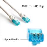 Cable connecteur non protégé modulaire de connexion de RJ45 du RJ45 CAT6 de la fiche 8p8c 100-Park de fiche de Wonterm