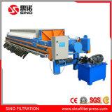 Instalación y operación fáciles de la prensa de filtro de membrana de las aguas residuales