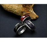 Gemstone 316L Stainless Steel Jewellery Women & Men Rings