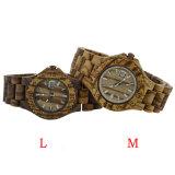 Relógio de madeira personalizado da forma durável unisex do logotipo