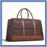 L'usine font à unité centrale le sac en nylon portatif en cuir de course, sac durable de bagage d'emballage pour le voyage d'affaires