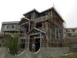 Casa pré-fabricada do aço claro que dá forma à máquina