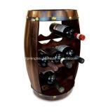 Cremalheira de madeira do frasco de vinho de 8 frascos para a barra Home