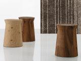 Mesa de mesa de madeira maciça Sala de estar Mesa de mesinha sólida de noz preta