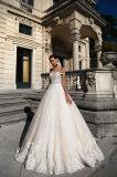Kleid der Diamant-Champagne-Ivory Prinzessin-Hochzeit